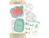 Country Rose Cookie Cutters, Sweet Sugarbelle Cookie Cutter Kit, Mason Jar Cookie Cutter, Flower Cookie Cutter, Rose Biscuit Cutters