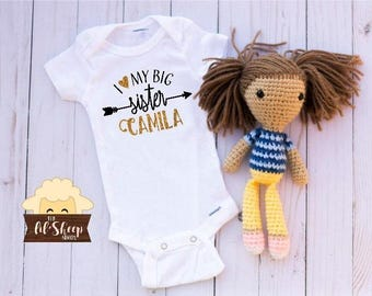 Baby Onesie/Bodysuit/ Baby gift/ Baby shower/Infant/Baby Clothing /JW/Big Sister/Little sister/ Coming Home Outfit