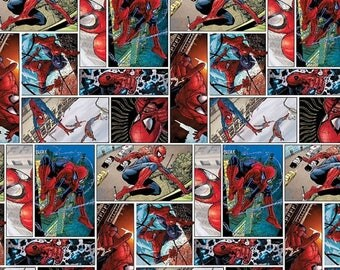 Awesome Spiderman Scenes Fabric-- 40-70% off Patterns n Books SALE