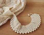 1950s Pearl Collar Bib Necklace