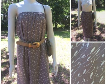 Taupe Lovenote Skirt (L/XL)