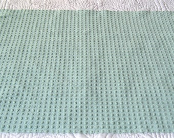 "Small ""Seafoam Green""  Morgan Jones Pops Vintage Chenille Bedspread Fabric  25"" x 18"""