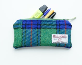 HARRIS TWEED pencil case, Shaw tartan, handwoven and made in Scotland