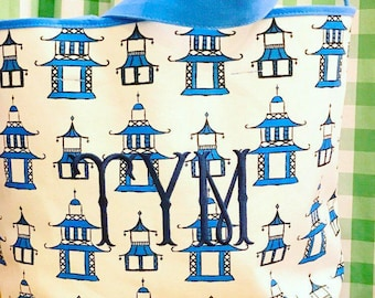 Monogram Pagoda Tote Bag