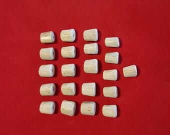 21 Antler Beads Mixed Lot 60