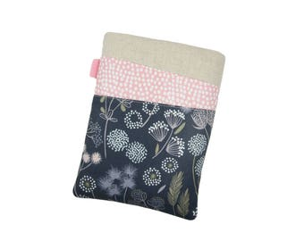 Floral Kindle Cover, Paperwhite Case, iPad Mini Case, Kobo Aura H20, Gift for Mum, Kindle Voyage Case, iPad Mini Sleeve, Amazon Fire 7