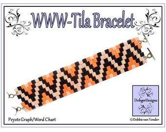 Tila Beading Pattern, Tutorial, Bracelet - WWW