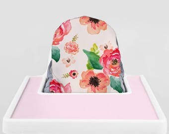Floral Dreams // IKEA Antilop Highchair Cover // High Chair Cover for the PYTTIG Cushion // Pillow Slipcover
