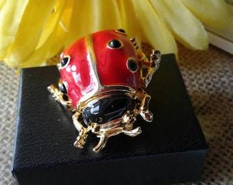Large Vintage Ladybug  Brooch
