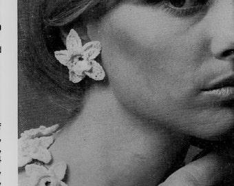 Crochet Pattern - Crochet Flower Jewellery, Necklace, Bracelet and Earrings or embellishments download PDF