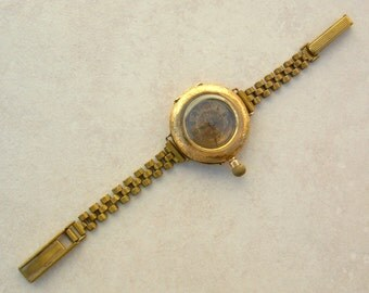 Antique Lady's Swiss Cuivre Watch, 14K Gold, Victorian Mid to Late 1800s, Collectible Pendant Watch Made into a Wristwatch, Still Works!