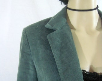 1970's Sea Green CORDUROY BLAZER size medium