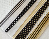 Sparkly Silver or Gold metallic Felt - You choose colour/pattern 8x12 inches (priced per sheet)