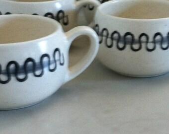 Metlox Poppytrail Cups in the Aztec Pattern