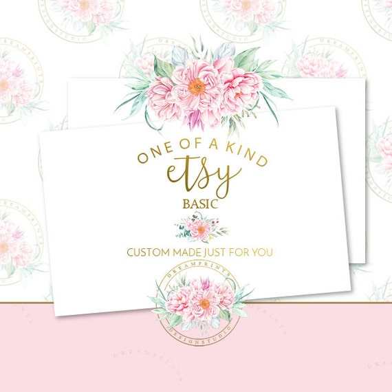 Custom-One Of A Kind Etsy Basic Shop Set | Business Branding | Business Package | Etsy Shop | Small Business | Etsy Graphics | Etsy Designs