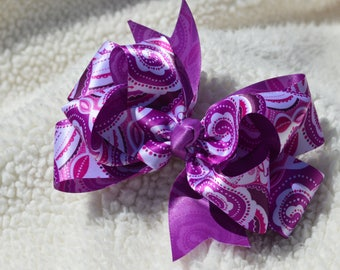 purple paisley satin