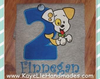 Embroidered Shirt - Birthday Shirt - Custom - Bubble Puppy