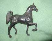 vintage 1950s retro black horse toy figure  9 inch tall