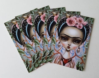Pack of 5 Postcards-Frida's Heart