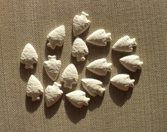 Bisque Arrowhead Blanks - Set of 15
