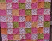 Flower Pot Rag Lap Quilt