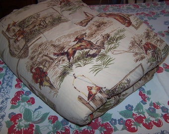 Vintage Men's Hunters Sleeping Bag, Camping, Fishing, Gift for him, Rustic Cabin, Deer, Duck Hunting, Fisherman, Hunting Dogs
