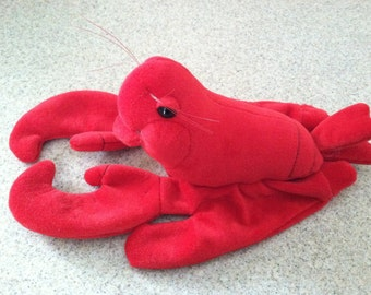 Vintage Plush Lobster Hand Puppet by Plush Creations