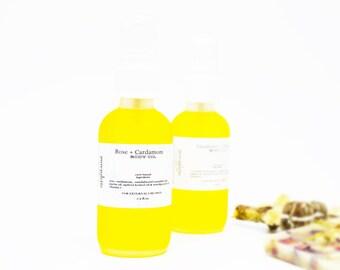 Rose Cardamom Aromatic Body Oil