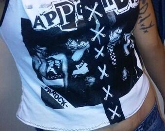 Appendix Lace up Crop Top