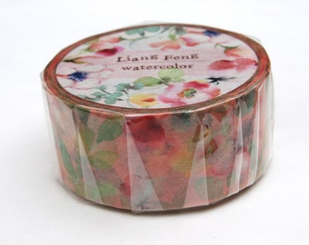 Liang Feng Spring watercolor washi tape 20mm x 10M