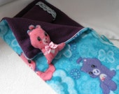 "18"" ZIPPERED 4 pc Lrg Sleeping Bag Care Bears American Girl BJD Mini Fee"