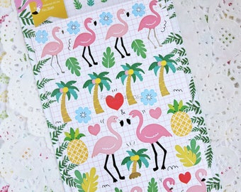 Tropical Theme Sticker - Diary and Planner Sticker - Scrapbook Supplies - 1 sheet - Gift Sticker - Ready to ship!
