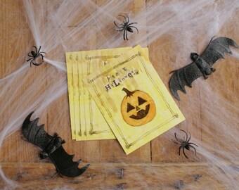 Happy Halloween Pumpkin Postcard Set