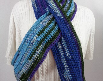 Neckwarmer with Slit, Multicolor Keyhole Scarf,  Winter Wear,  Gift for Dad, Unisex Scarf, Mom's Present, Unique Colors, Mens Neckwarmer
