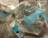 Craft supplies, jewelry making supplies, funky junk, bag o parts