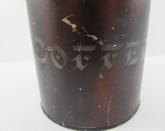 Antique Victorian Japanned Coffee Tin