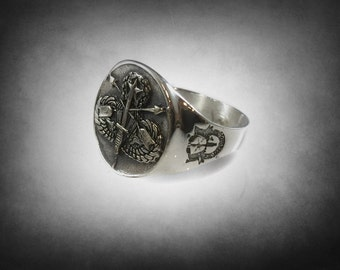 old special forces airbobne ring solid sterling silver 925