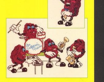 Jam Session The California Raisins Cross Stitch Pattern 1988 Vintage