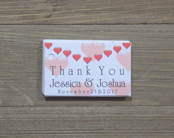 All Hearts Wedding Favor Tags with Personalization
