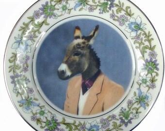 """Jack Ass Portrait Plate 6.4"""""""