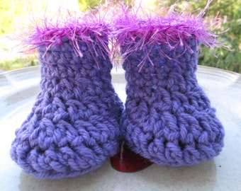 Newborn to 18 Months Baby Booties Crocheted by SuzannesStitches, Baby Girl Booties, Crocheted Baby Booties, Pink Baby Girl Booties, Booties
