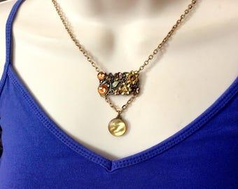 Summer Pizazz button necklace