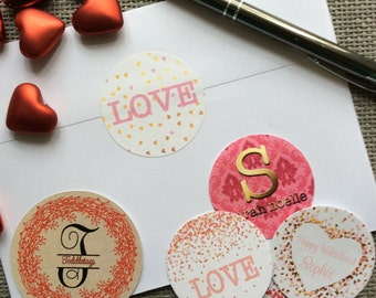 Love Labels Wedding Labels Mailing Labels Holiday Labels Valentine Stickers Love Stickers Personalized Labels Greeting Card Labels Custom