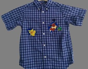 Upcycled Pokemon Shirt, Boy Size 6