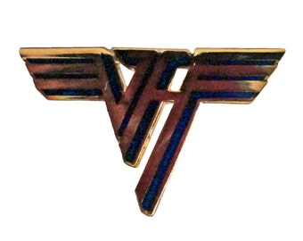 VAN HALEN logo vintage pin Eddie David Lee Roth 1984 ou812 5150 I II tour concert