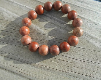 Natural Red Malachite Stretch Bracelet