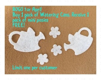 Felt Watering Can for Wax Dipping-DIY Kits for Independent Consultants-Parties-Springtime-Bible Journaling-Quilt Appliques-Planner Pages