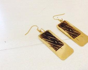 Raw Brass Mod Earrings