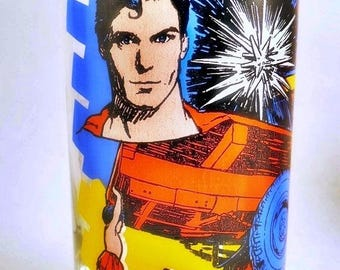 1978 Superman the Movie Kal-el Comes to Earth Drinking Glass tumbler DC Comics