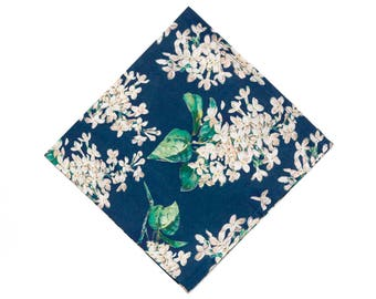 Pomp & Ceremony Pocket Square Liberty of London Archive teal